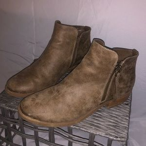 Stone colored booties